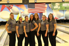 Photo courtesy of Jim Martiny The Briggs High School girls bowling team made the state finals again this year. Here, team members (from left to right) Tori Pappas, Brittany Hitch, Janey Sawmiller, Randi Chalfant, Mara Caldwell, Renee Chalfant and Alexis Dunkle pose for a picture at the bowling alley.