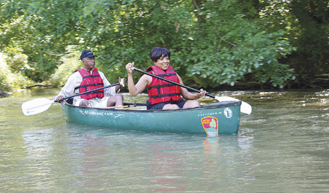 Photo courtesy of Cheryl Blair Canoeing is a popular activity at Battelle Darby Creek Metro Park near West Jefferson.