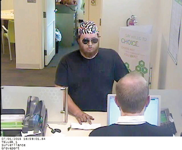 The Groveport Police released this surveillance photo of the suspected bank robber.