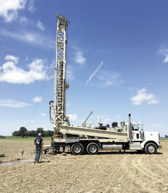 A test well drilled in June showed that land located on the west side of Route 42, north of I-70, will make a good site for a wellfield to supply water service to the area.