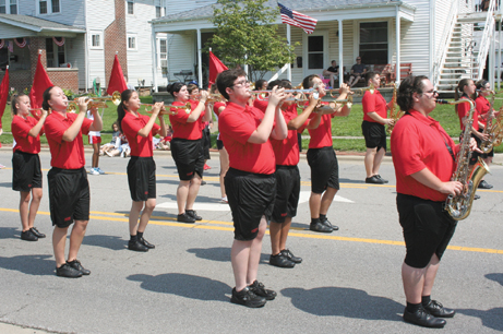 The Groveport Madison Marching Cruisers performed during the Groveport Fourth of July parade.