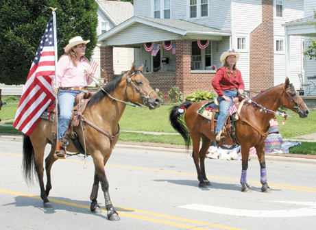 These fine horses and their riders participated in the Groveport Fourth of July parade.