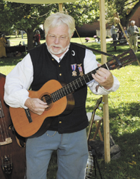 Steve Ball plays music from the American Civil War era at last year's Jonathan Alder Day. Ball, a Civil War historian, returns to the event this year to once again provide musical entertainment.