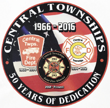 Mike Chamberlain, a battalion chief with Central Townships Joint Fire District and a fire fighter for the London Fire Department, designed this emblem commemorating Central Townships' 50th anniversary. The emblem will be displayed on the fire district's equipment for the next year.