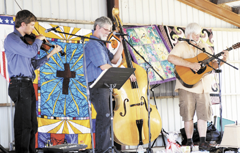 """R.U. Bound performs """"old time picking and singing."""""""